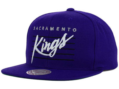 Sacramento Kings Mitchell and Ness NBA Cursive Retro Snapback Cap
