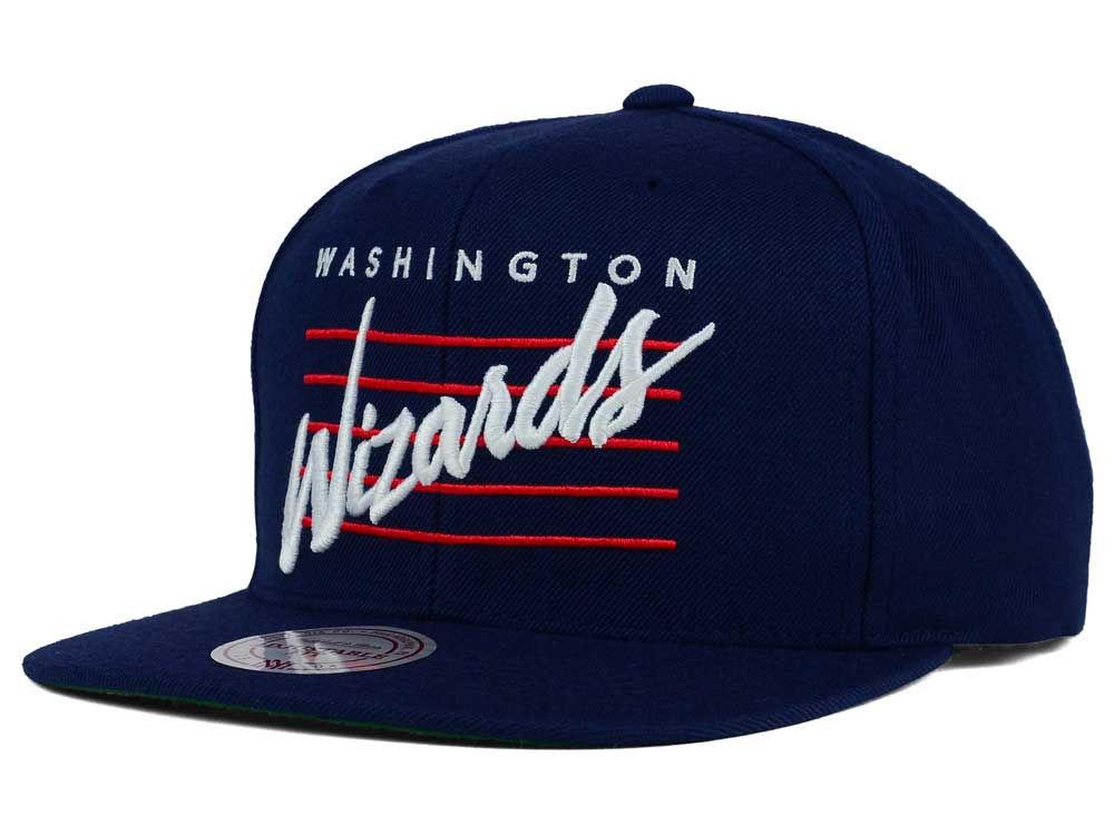 Washington Wizards Mitchell   Ness NBA Cursive Retro Snapback Cap ... 2f1a700f709