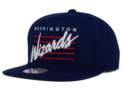 Washington Wizards Mitchell and Ness NBA Cursive Retro Snapback Cap