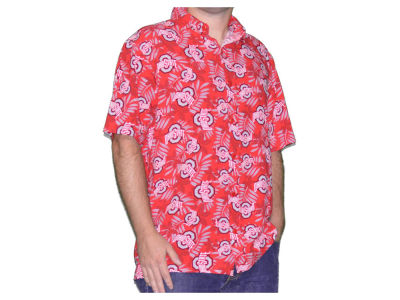 Ohio State Buckeyes NCAA Men's Athletic O Hawaiian Button Up Shirt