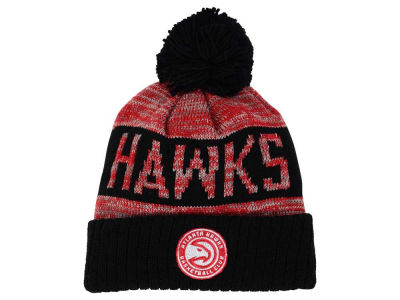 Atlanta Hawks Mitchell & Ness NBA Team Color Jacquard Stripe Pom Knit