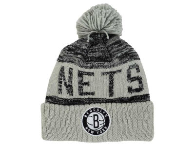 Brooklyn Nets Mitchell and Ness NBA Team Color Jacquard Stripe Pom Knit