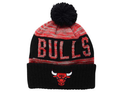 Chicago Bulls Mitchell and Ness NBA Team Color Jacquard Stripe Pom Knit