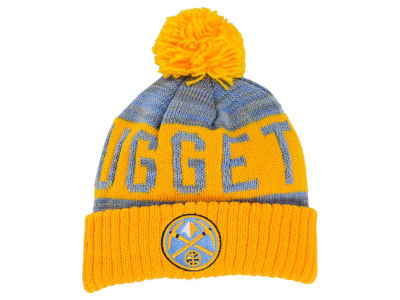Denver Nuggets Mitchell & Ness NBA Team Color Jacquard Stripe Pom Knit
