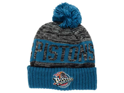 Detroit Pistons Mitchell and Ness NBA Team Color Jacquard Stripe Pom Knit