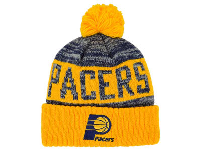 Indiana Pacers Mitchell and Ness NBA Team Color Jacquard Stripe Pom Knit