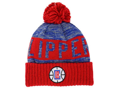 Los Angeles Clippers Mitchell and Ness NBA Team Color Jacquard Stripe Pom Knit