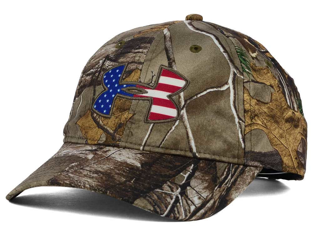 Under Armour Camo Big Flag Logo Realtree AP Cap  6a7b5aa6d9c