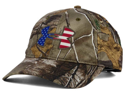 Under Armour Camo Big Flag Logo Realtree AP Cap