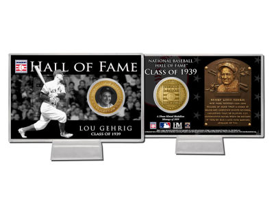 New York Yankees Lou Gehrig Hall Of Fame Bronze Coin Card
