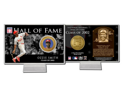 St. Louis Cardinals Ozzie Smith Highland Mint Hall Of Fame Bronze Coin Card