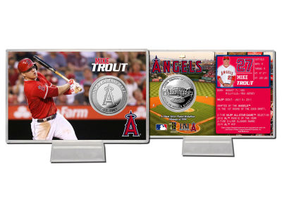 Los Angeles Angels Mike Trout Coin Card-Silver
