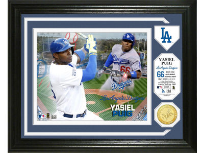Los Angeles Dodgers Yasiel Puig Single Coin Player Photo Mint Bronze