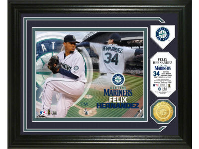 Seattle Mariners Felix Hernandez Single Coin Player Photo Mint Bronze