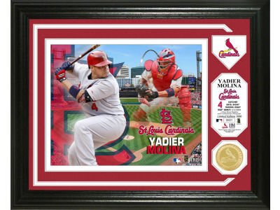 St. Louis Cardinals Yadier Molina Single Coin Player Photo Mint Bronze