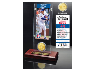 Chicago Cubs Anthony Rizzo Ticket and Coin Acrylic