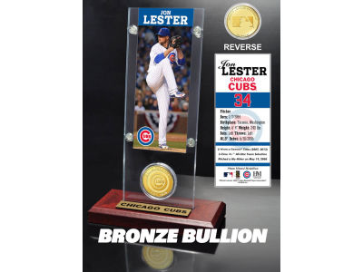 Chicago Cubs Jon Lester Ticket and Coin Acrylic