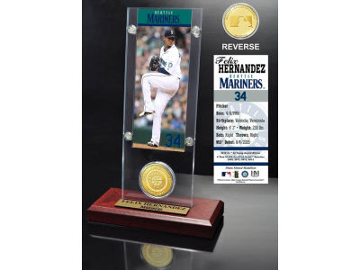 Seattle Mariners Felix Hernandez Ticket and Coin Acrylic