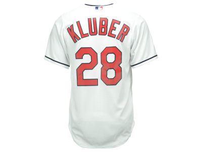 Cleveland Indians Corey Kluber Majestic MLB Men's Player Replica Cool Base Jersey