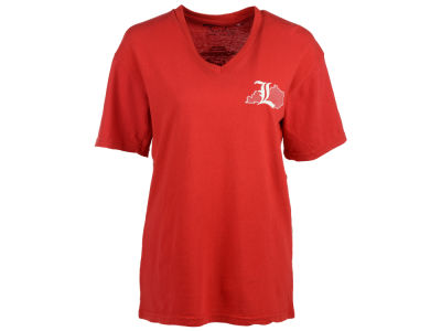 Louisville Cardinals Pressbox NCAA Women's State Pigment V-Neck T-Shirt