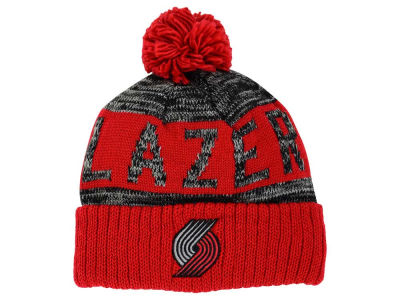 Portland Trail Blazers Mitchell and Ness NBA Team Color Jacquard Stripe Pom Knit