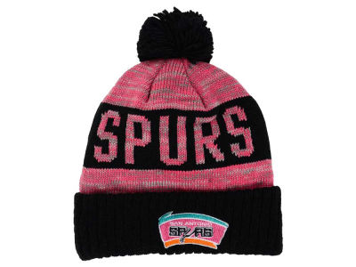 San Antonio Spurs Mitchell and Ness NBA Team Color Jacquard Stripe Pom Knit