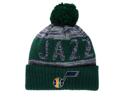 Utah Jazz Mitchell and Ness NBA Team Color Jacquard Stripe Pom Knit