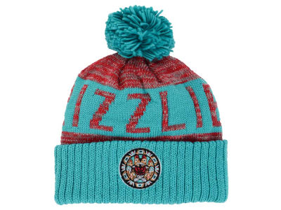Vancouver Grizzlies Mitchell and Ness NBA Team Color Jacquard Stripe Pom Knit