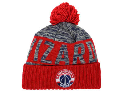 Washington Wizards Mitchell and Ness NBA Team Color Jacquard Stripe Pom Knit