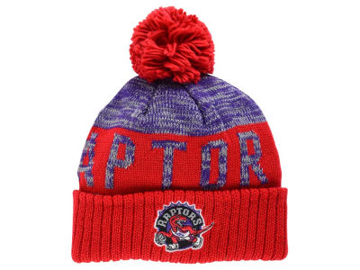 Toronto Raptors Mitchell and Ness NBA Team Color Jacquard Stripe Pom Knit
