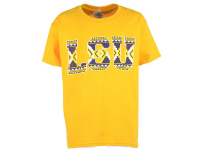 LSU Tigers 2 for $28 NCAA Youth Aztec T-Shirt