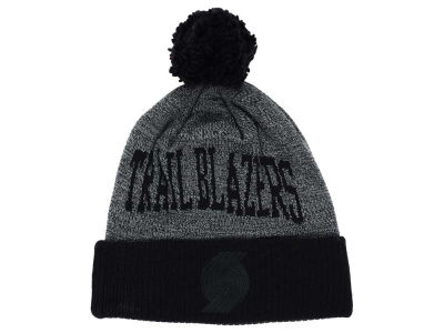 Portland Trail Blazers Mitchell and Ness NBA Blackout High 5 Cuffed Pom Knit
