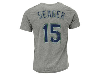 Seattle Mariners Kyle Seager Majestic MLB Men's Triblend Jersey Player T-Shirt