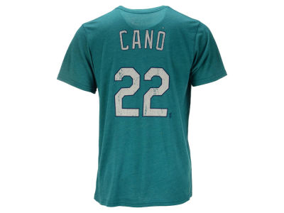 Seattle Mariners Robinson Cano Majestic MLB Men's Triblend Jersey Player T-Shirt