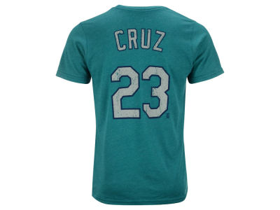 Seattle Mariners Nelson Cruz Majestic MLB Men's Triblend Jersey Player T-Shirt