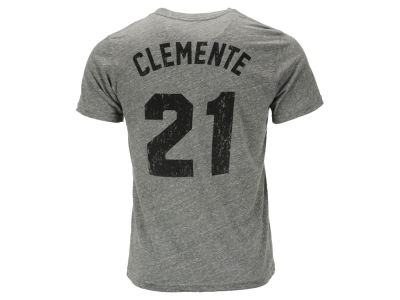 Pittsburgh Pirates Roberto Clemente Majestic MLB Men's Triblend Jersey Player T-Shirt