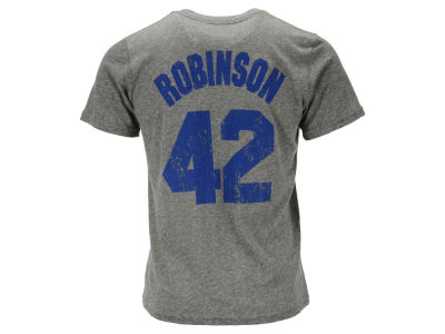 Los Angeles Dodgers Jackie Robinson Majestic MLB Men's Triblend Jersey Player T-Shirt