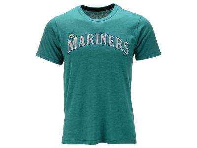 Seattle Mariners Majestic MLB Men's Contrast Stitch Logo T-Shirt