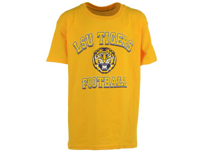 LSU Tigers NCAA Youth Tiger Head Football Varsity Arch T-Shirt