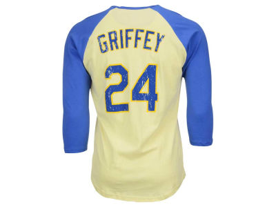 Seattle Mariners Ken Griffey Jr. Majestic MLB Men's Cooperstown Player Soft Raglan T-Shirt