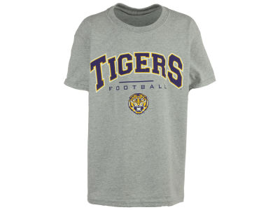 LSU Tigers NCAA Youth Tiger Head Football Jersey Arch T-Shirt