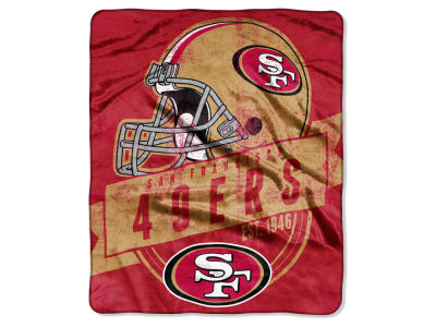 San Francisco 49ers Raschel 50x60 Throw