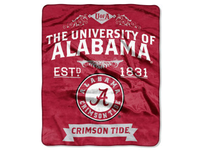Alabama Crimson Tide Raschel 50x60 Rebel Throw