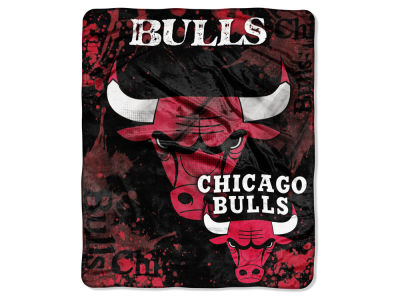Chicago Bulls Raschel 50x60 Shadow Throw