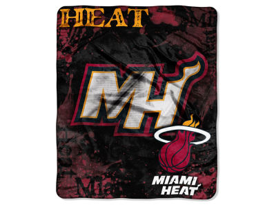 Miami Heat Raschel 50x60 Shadow Throw