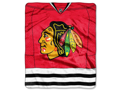 Chicago Blackhawks Raschel 50x60 Stamp Throw