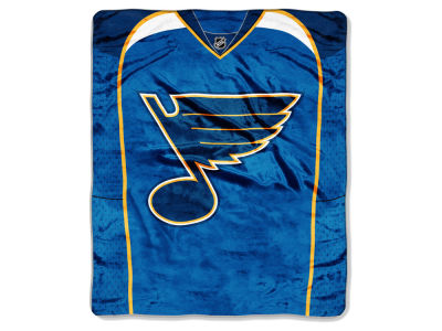 St. Louis Blues Raschel 50x60 Stamp Throw