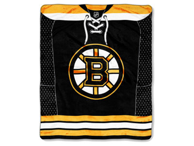 Boston Bruins Raschel 50x60 Stamp Throw
