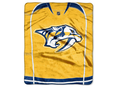 Nashville Predators Raschel 50x60 Stamp Throw