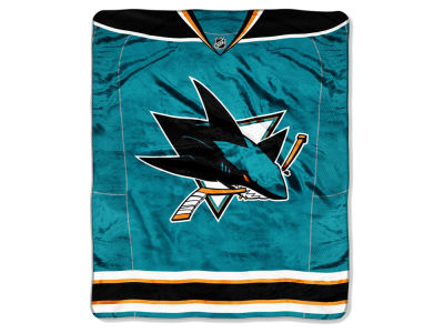 San Jose Sharks Raschel 50x60 Stamp Throw